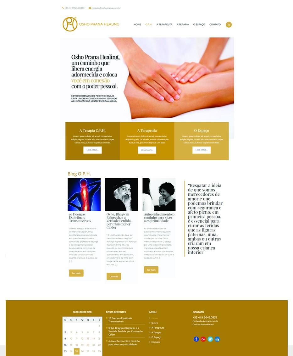 Site Osho Prana by Logotipe