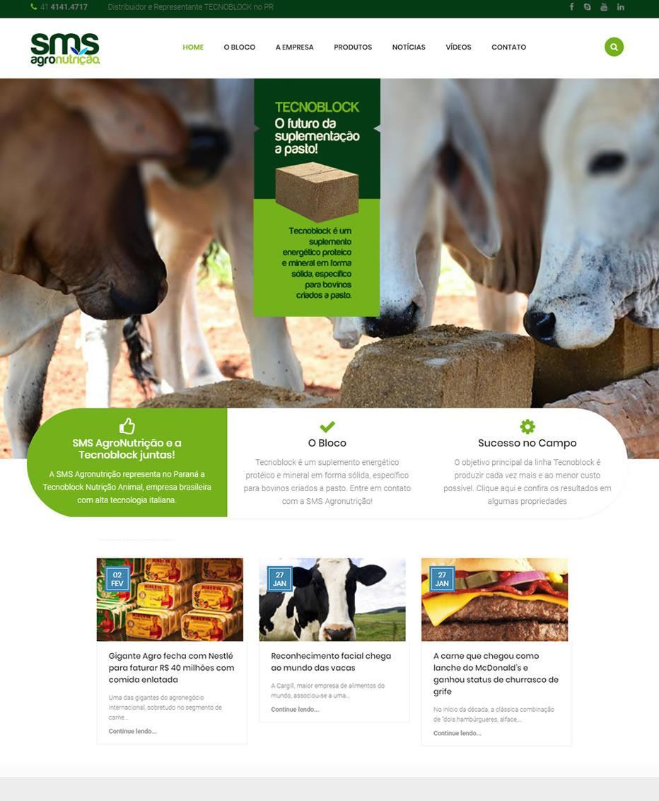 Site SMS Agro by Logotipe